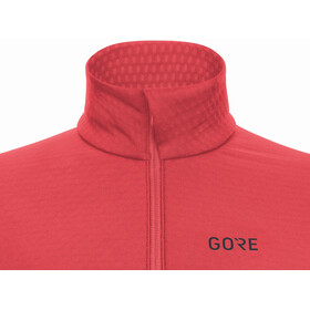 GORE WEAR M Camiseta Térmica Manga Larga Cremallera Mujer, rosa